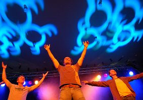 Die Wise Guys präsentierten vor rund 350 begeisterten Gästen in einem exklusiven Club-Konzert den neuen Kirchentags-Song