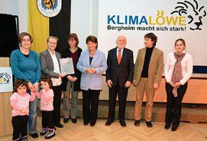 """Auszeichnung mit dem """"Klimalöwen Bergheim"""""""