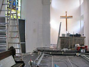 Renovierung der Gnadenkirche sorgt auch für frische Luft