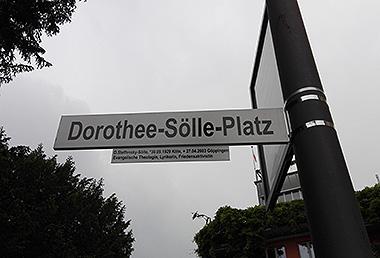 Dorothee-Sölle-Festwoche mit Einweihung des Dorothee-Sölle-Platzes