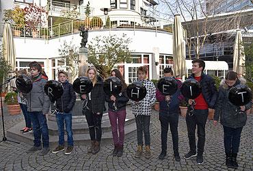 Gedenkstunde an der Kölner Kindergedenkstätte am Löwenbrunnen