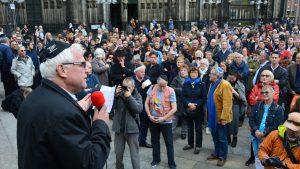 """Stadtsuperintendent Rolf Domning fand deutliche Worte beim Bündnis gegen Antisemitismus """"Köln trägt Kippa"""""""