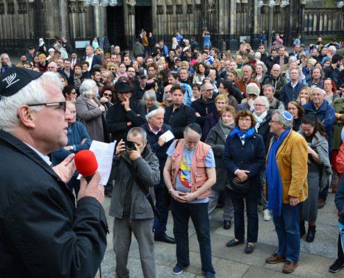 Demonstration Köln trägt Kippa