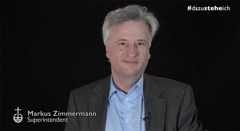 """Superintendent Markus Zimmermann zum Thema """"Zeit"""""""