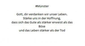 Gebet für #Münster