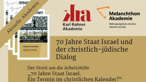 """Podiumsdiskussion zum Streit um die Arbeitshilfe """"70 Jahre Staat Israel. Ein Termin im christlichen Kalender?"""" der Evangelischen Kirche im Rheinland"""