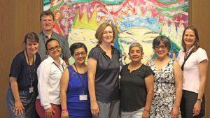 """""""Was Sie hier gerade tun, ist das Bestmögliche"""" – Frauenrechtsdelegation aus Honduras besuchte das Bundesministerium für wirtschaftliche Zusammenarbeit und Entwicklung"""
