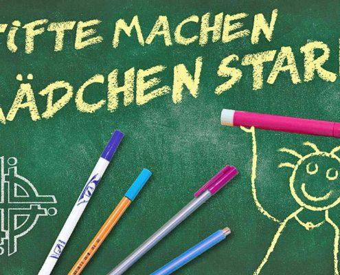 """Plakat zur Aktion """"Stifte machen Mädchen stark"""""""