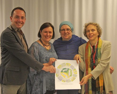 Dr. Martin Bock, Rabeya Müller, Natalia Verzhbovska und Dorothee Schaper