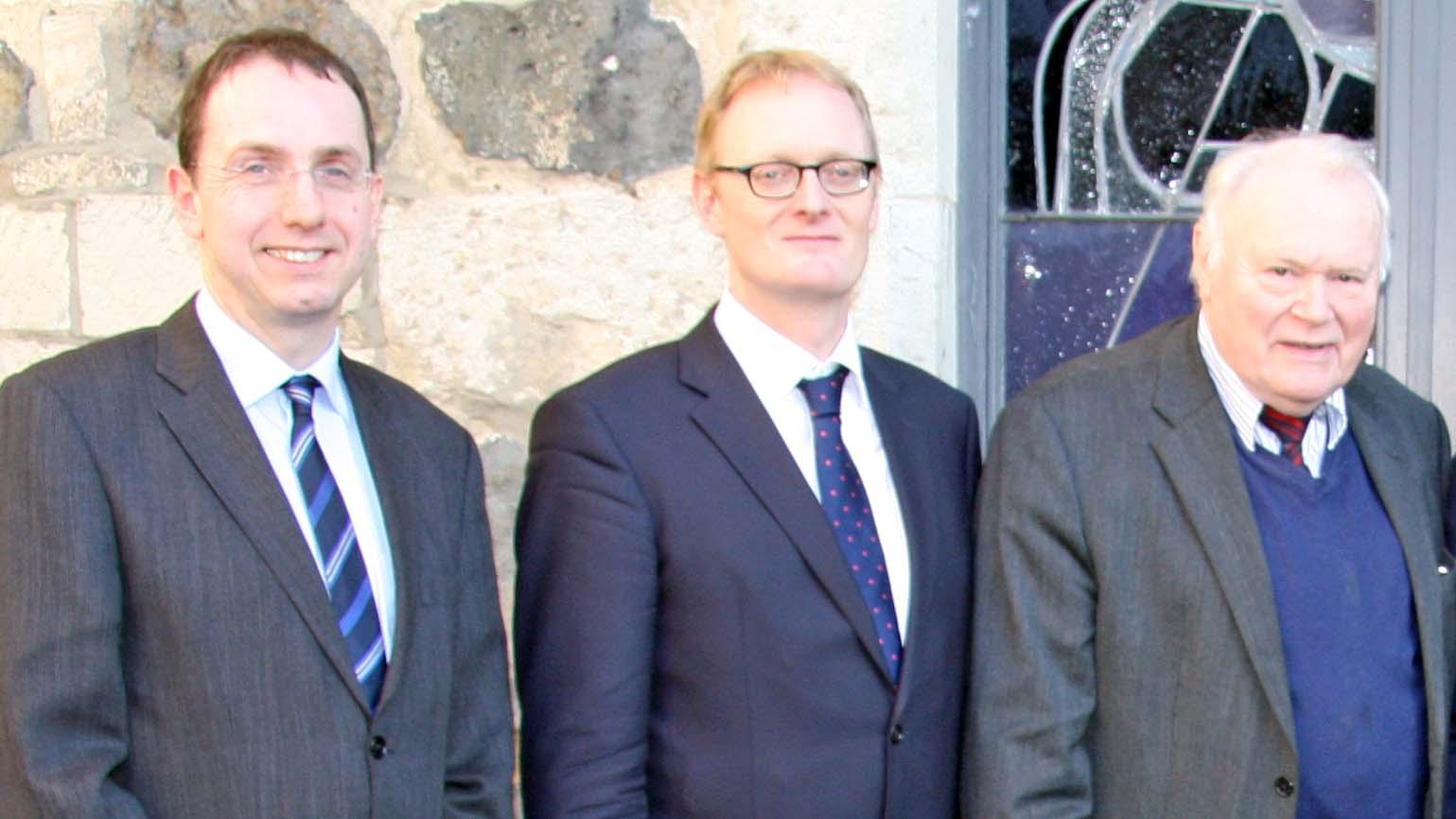 Dr. Martin Bock, Dr. Jochen Gensichen und Altpräses Manfred Kock