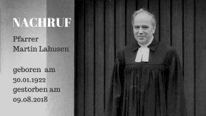 Pfarrer Martin Lahusen mit 96 Jahren gestorben – Träger der Ehrennadel der Stadt Wesseling