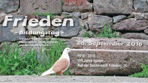 """Jetzt anmelden beim Bildungstag """"Auf der Suche nach Frieden"""" am 26. September"""