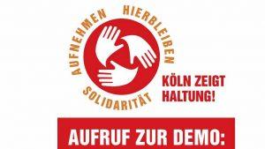 16. September, 14 Uhr: Evangelische Kirche in Köln und Region zeigt Haltung – für eine Flüchtlingspolitik im Geist der Nächstenliebe