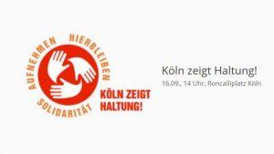 Heute 14 Uhr, Roncalliplatz: Gemeinsam Haltung zeigen! Evangelischer Kirchenverband Köln und Region ruft auf zu Kundgebung und Demo für eine Flüchtlingspolitik der Nächstenliebe