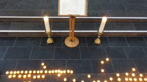 Stilles Gedenken für die vom Brand in St. Magdalenen betroffenen Menschen