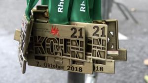 Ehrenamtliche der Evangelischen Jugend in Köln und Umgebung beim Marathon-Lauf