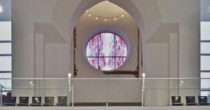 Rosettenfenster von David Schnell wird am 2. Advent in der Christuskirche eingeweiht