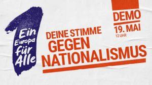 Ein Europa für Alle – Demo am Sonntag – Auftakt um 11 Uhr auf dem Roncalliplatz
