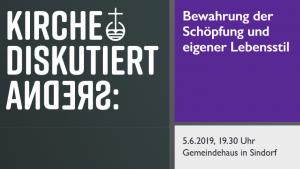 """Diskussion zum Thema """"Bewahrung der Schöpfung und eigener Lebensstil"""" am Mittwoch, 5. Juni, in Sindorf"""
