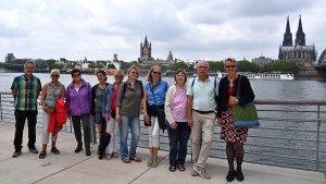 Mitglieder der Evangelischen Kirchengemeinde Bickendorf pilgerten durch die Kölner City