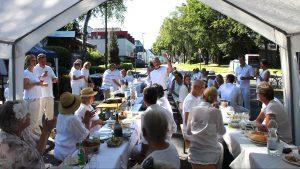 Dinner in White: Mitbringen, einbringen, teilen