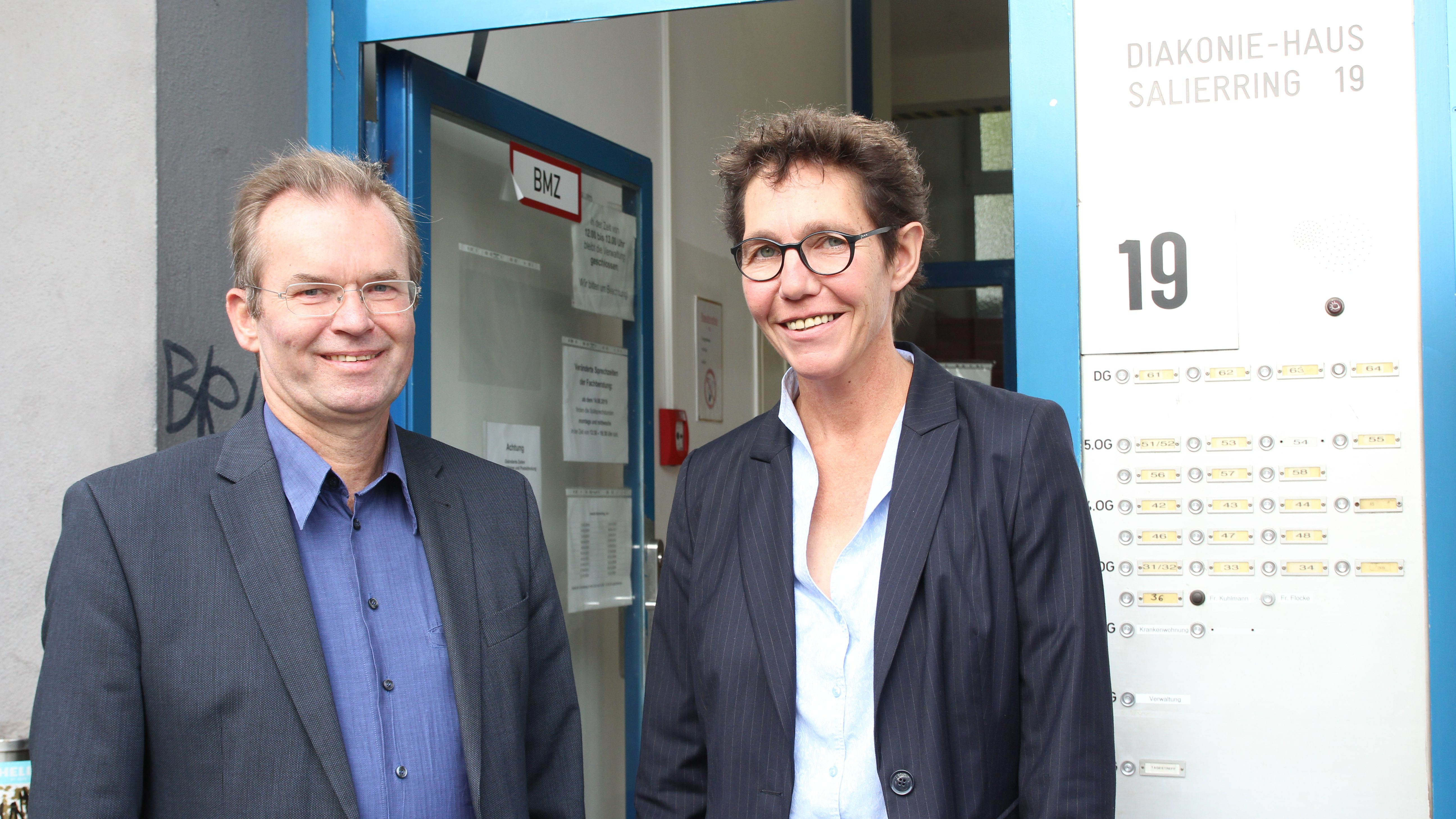 Stadtsuperintendent Dr. Bernhard Seiger besucht Diakoniehaus für Obdachlose