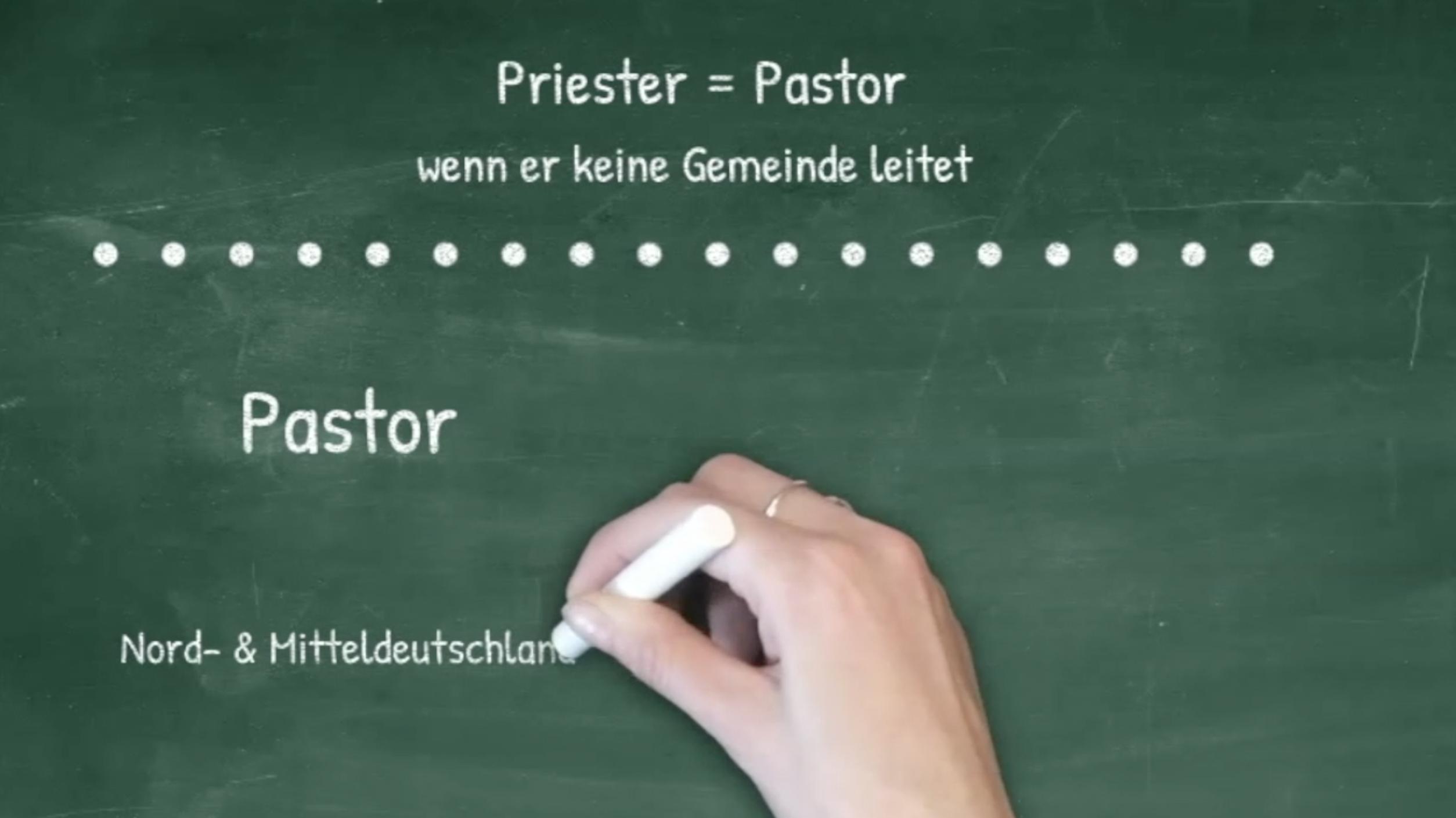 Kirche2go – zum Thema: was ist der Unterschied zwischen Priester, Pfarrer oder Pastor?