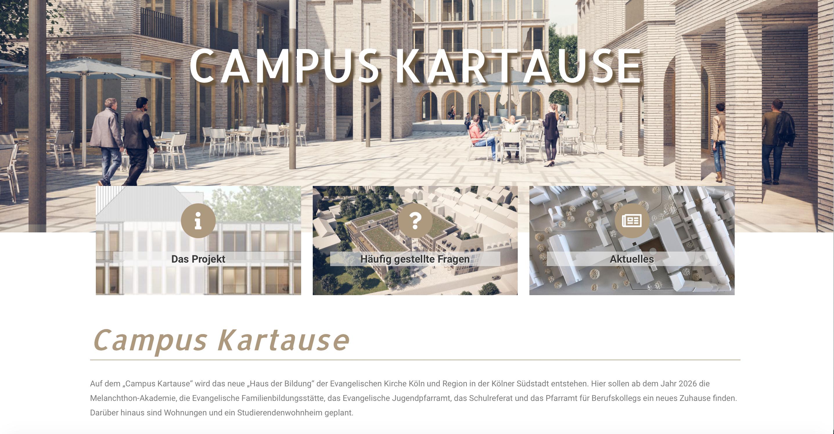 """Neue Internetseite berichtet über """"Campus Kartause"""""""