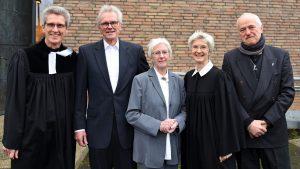 Ingrid Schneider, Pfarrerin im Pastoralen Dienst im Übergang, wurde in der Petrikirche in Köln-Niehl verabschiedet