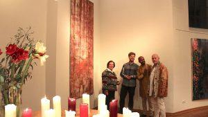 """""""Viel Spaß in Eden!"""" –  Diptychon """"Roxy"""" von Künstler Mike Felten in der Friedenskirche Mülheim"""
