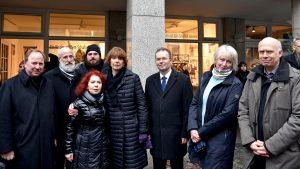 Gedenken in Köln an die Opfer des Nationalsozialismus am Löwenbrunnen und in der Antoniterkirche