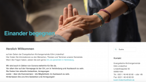 Geistliche Angebote auf der Homepage, Nachbarschaftshilfe und ein Sammelbecken für gute Nachrichten – Evangelisch in Lindenthal – online
