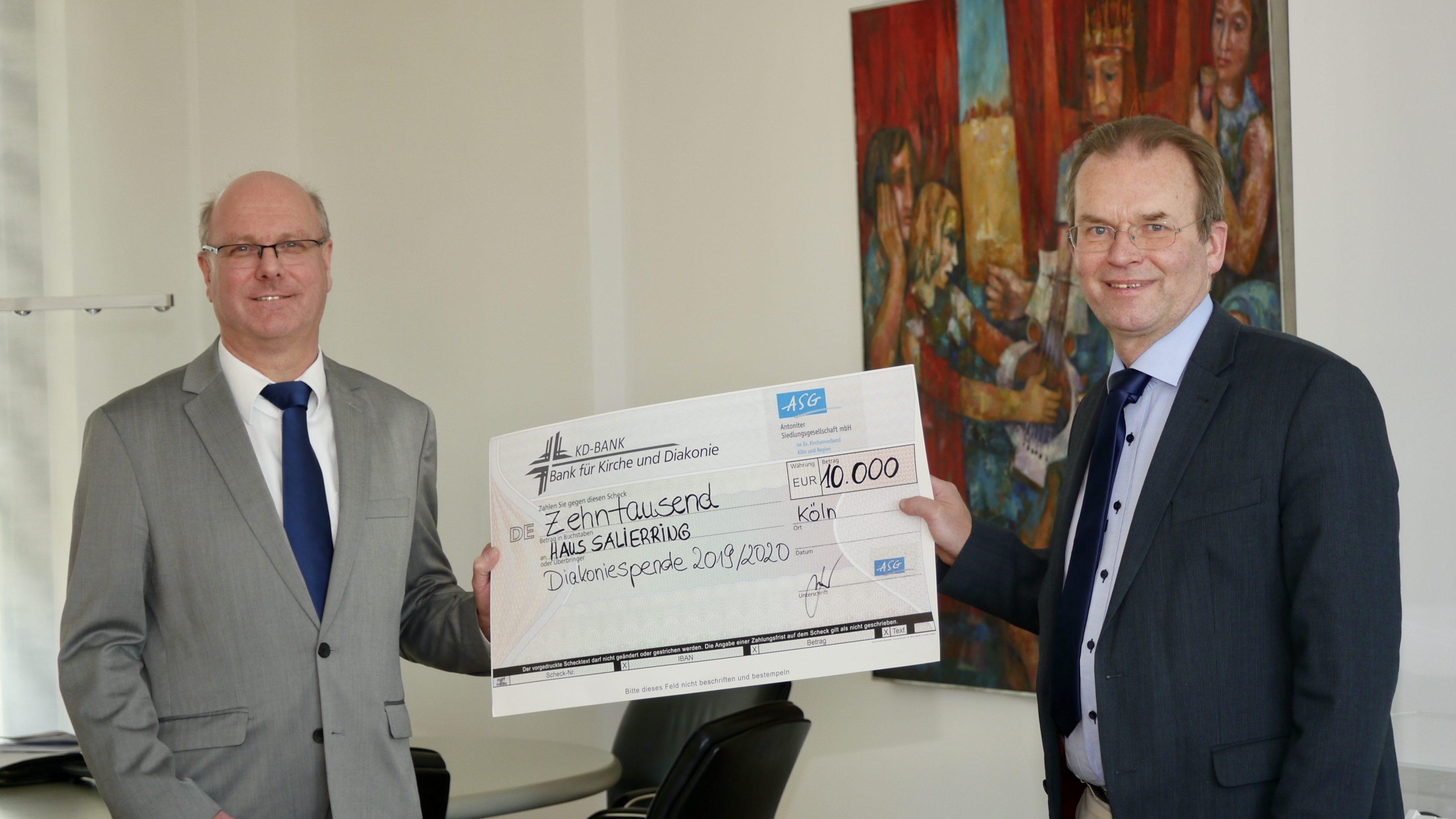 """Großzügige """"Spenden statt Geschenke"""" von ASG-Geschäftspartnern – Hilfe und Unterstützung für Menschen in Not im Diakoniehaus Salierring"""