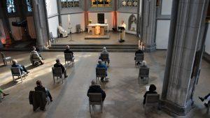 Ein mit Abstand besonderer Gottesdienstbesuch – Ungewöhnliche Feier in der AntoniterCityKirche