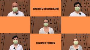 """""""Mundschutz ist kein Maulkorb"""": Aufruf an die Bundesregierung Mahnmal für Moria an der Christuskirche – Ab 20.06.2020"""