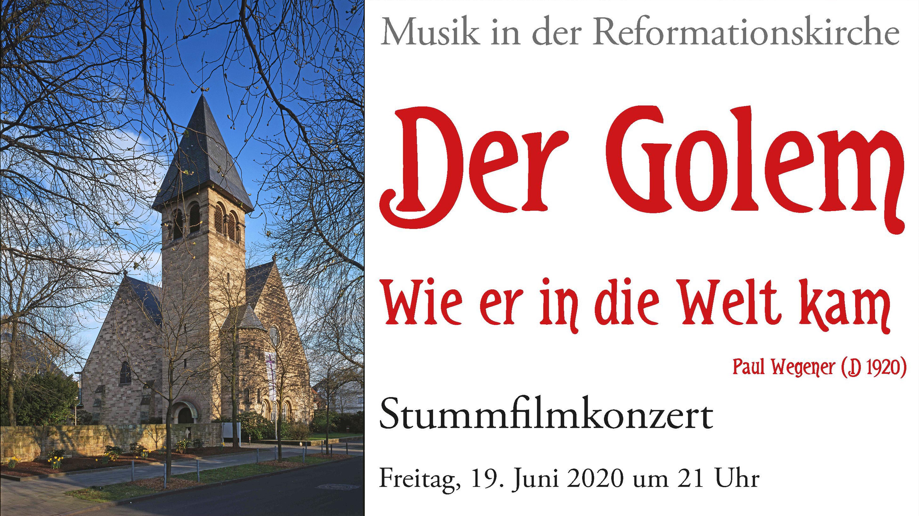 Der Golem. Wie er in die Welt kam –  Stummfilmkonzert am 19. Juni in der Reformationskirche