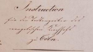 Totengräber des evangelischen Kirchhofes – Archivalie des Monats Juli 2020