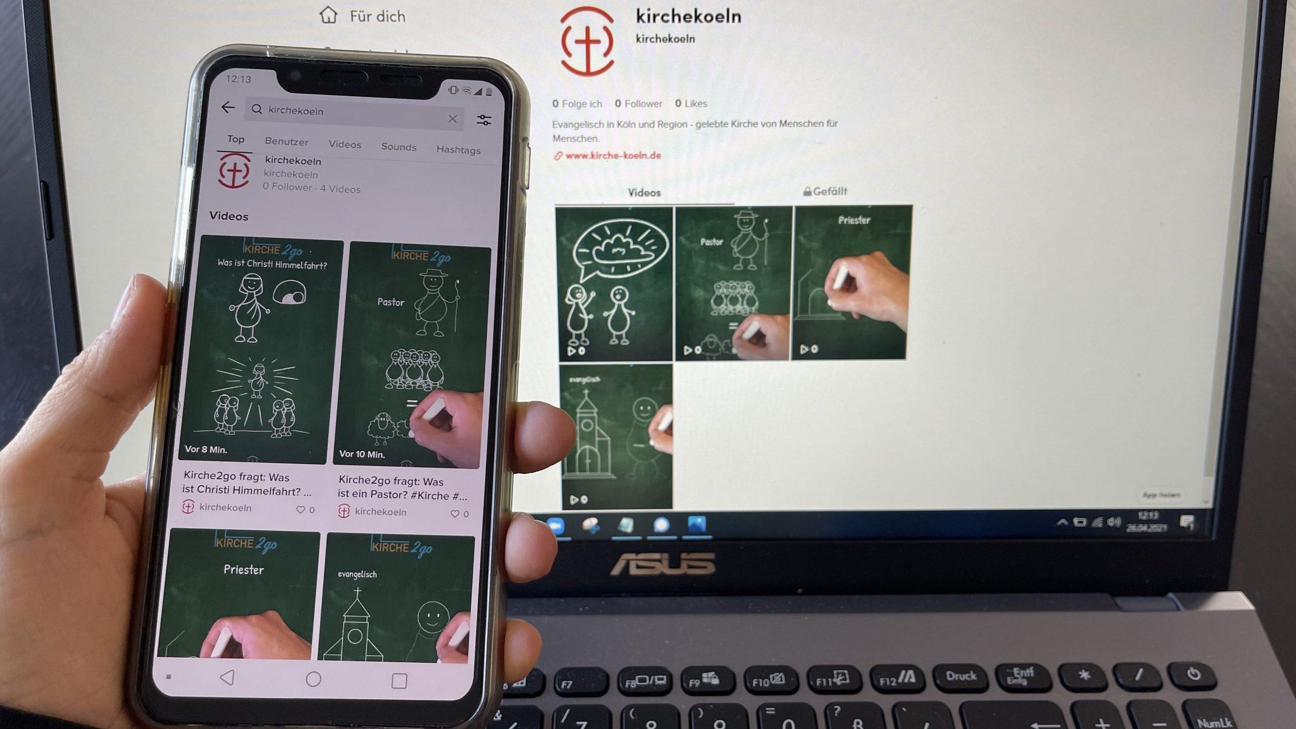 Kirche2go goes Tiktok – Evangelische Kirchenverband Köln und Region mit neuem Angebot