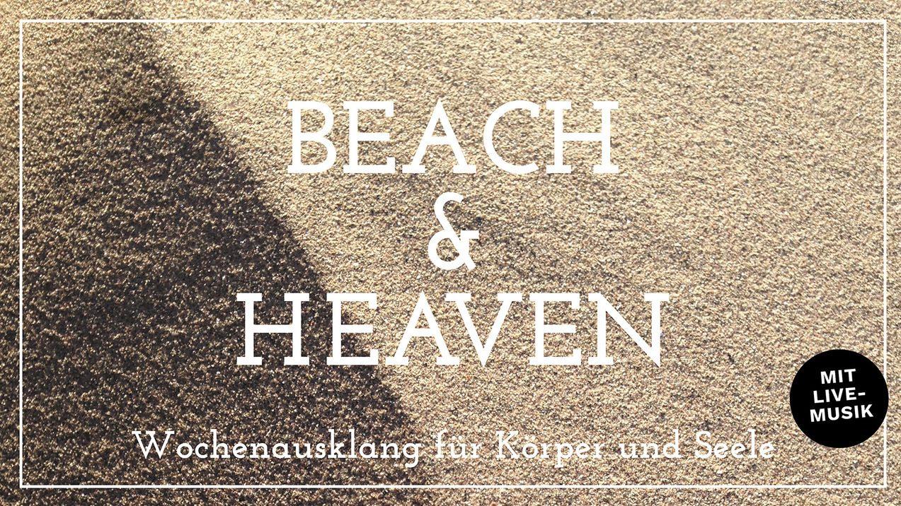"""Einladung zu """"Beach & Heaven – Body meets Soul"""" am Freitag: Spirituell und digital – für Körper und Seele"""