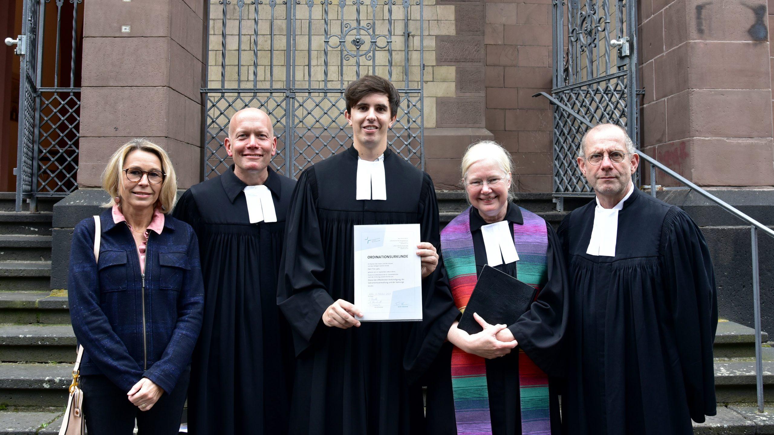 Pfarrer Tim Lahr wurde in der Christuskirche ordiniert